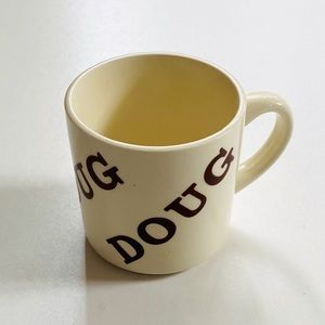 Vintage Houze 1970s Personalized Doug Coffee Mug